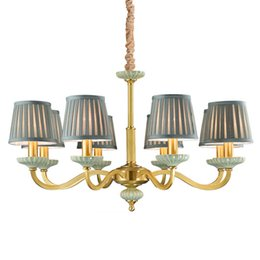 Ceiling Lights & Fans Lights & Lighting Led Chandeliers Living Room Suspension Luminaires Ceramic Suspended Lamps Luxury Lighting Fixtures Bedroom Hanging Lights