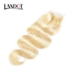 $enCountryForm.capitalKeyWord NZ - 9A Bleach Blonde 613# Color Lace Closures Brazilian Peruvian Malaysian Indian Virgin Human Hair Body Wave Top Closures Swiss Lace 4*4 Size