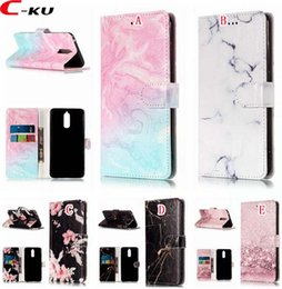 mini cards wallet 2019 - Marble Wallet Leather Case For Huawei Mate9 Pro Mate10 Lite P9 Lite Mini P20 Y9 2018 Enjoy 7S Honor 7C 7X NOKIA 1 6 2018
