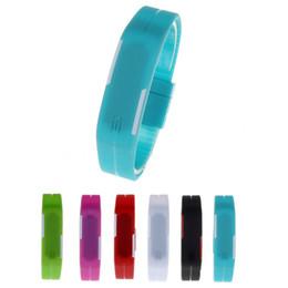 Men Digital Wrist Watches Australia - 2018 Fashion Creative Luxury LED Electronic Sport Watch Thin Men Girl Sports Silicone Digital LED Sports Bracelet Wrist Watch