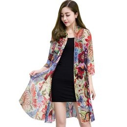 aea450ca71d Kimono Summer women tops 2018 Fashion long Sleeve Two sets Womens tops and  blouses Floral Print casual Shirts Female Plus size. US $15.67 - 18.67 /  Piece ...