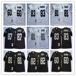 82 AI Davis 87 Dave Casper 60 Otis Sistrunk 83 Ted Hendricks Regression  Stitching Football Jerseys Top level Mens jerseys 3811023db