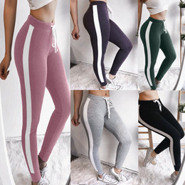 $enCountryForm.capitalKeyWord Canada - Elastic Yoga Pants Women Sports Leggings Color Stitching Push Up Breathable Gym Clothing Female High Waist Jogging Fitness Suits