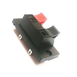 Discount speaker push terminal Black and Red 2-Pins 2 Positons Push Type Speaker Terminal Board Connector Free shipping