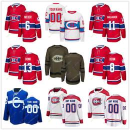 eca23d858 Shea Weber Jordie Benn Brendan Gallagher Max Domi Jersey 2019 Men Women  Youth Kid Winter Classic Montreal Canadiens Salute to Service