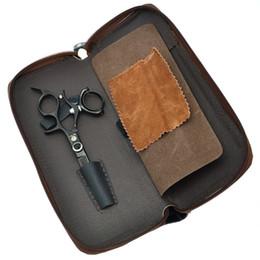"Top Barber Shears Australia - Purple Dragon 5.5"" Hair Cutting Scissors 360 Degree Rotation Tesoura Top Grade Salon Hair Shears Barber Hairdressing Styling Tool LZS0429"