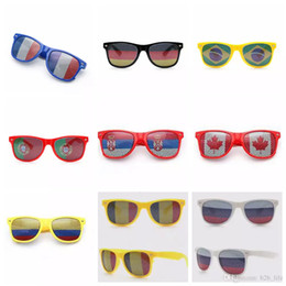 cosplay flags 2018 - World Cup Glasses Cosplay Costumes Accessories National Flag Eyewear Drink-up Sun Glasses Bar Party Fans Sunglasses EEA2