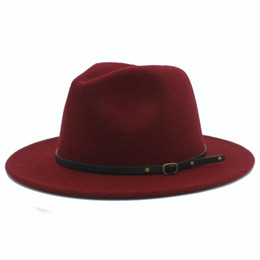 Stingy brim trilby online shopping - 100 Wool Women Outback Felt Gangster Trilby Fedora Hat With Wide Brim Jazz Godfather Cap Szie CM X18