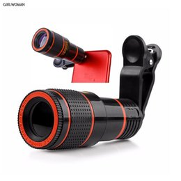 camera world Australia - Girlwoman 12x Zoom Telescope Mobile Phone Camera Lens Clip for telescope zoom celular telephoto lens football world cup