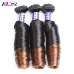 Curls hairs online shopping - 10A Spring Curl Bundles Ombre Brazilian Virgin Hair Peruvian Spring Curl T1B Indian Virgin Hair Malaysian Spring Curl Two Tone Color