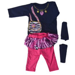 like dolls 2019 - 22-23Inch Doll Clothes For Girl Suit Reborn Baby Dolls Bib Shirt Pants Socks Looks Like Real Baby Clothes Sets Accessori