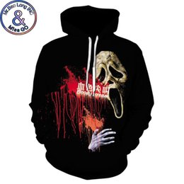tracksuit women skull NZ - New 3D Hoodies Men Women Halloween Sweatshirts Men Blood Skeleton Skulls Hooded Sweatshirt Hip Hop Streetwear Hoodie Tracksuit