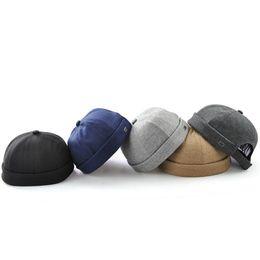 $enCountryForm.capitalKeyWord Canada - Brimless Cotton Cap For Men Women Street Dance Skull Caps Gorras Para Hombre Hip Hop Hat Adjustable Chapeau Baseball Hats