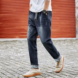 Trousers Big Size Man Canada - Big Size Plus 7XL 8XL 2018 Punk Style Men Jeans Classic Men's Clothing Casual Denim trousers Men Regular Blue jean pants Male