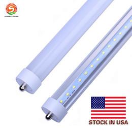 В США + 8 футов светодиодные 8-футовые однополюсные t8 FA8 однополюсные светодиодные ламповые лампы 45 Вт 4800Lm светодиодные люминесцентные ламповые лампы 85-265 В