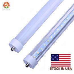 Шток в США + 8 футов LED 8ft single pin T8 FA8 Single Pin LED Tube Lights 45W 4800Lm LED люминесцентные лампы 85-265 в
