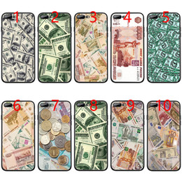 Iphone Money NZ - Russian money USD RUB euro Dollar Soft Black TPU Phone Case for iPhone XS Max XR 6 6s 7 8 Plus 5 5s SE Cover