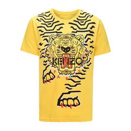 2018 Marca de Luxo cabeça de Tigre T-shirt Dos Homens de Verão 31112  designer Japonês Hight street Moda estilo casual Impressão de Algodão  O-pescoço tees bb9c8929d04