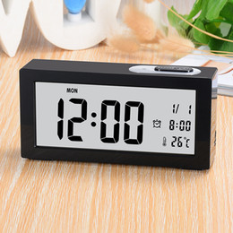 flip electronics NZ - Black white Retro Auto Flip Clock AM  PM Format Display Timepiece Electronics Home Page Turning Clock Decoration Table Clocks