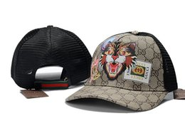 Summer Mesh Ball Caps with Bee Tiger Snake Pattern Male and Female Fashion  Baseball Cap for Sport High Quality Golf Fishing Hat Daddy Caps 1b73850a0bb9