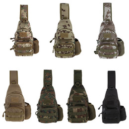 Multi-functional Tactical Camouflage Single Shoulder Bag Chest Pack on Sale