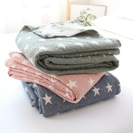 Wholesale New Throw Blanket piece cm Cotton Blanket Three Layers Gauze Brand Adult Super Soft Star Blankets