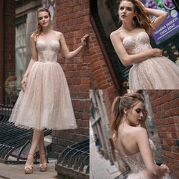 Full Length Robe Zipper NZ - Milva Bridal 2018 Knee Length Wedding Dress Sweetheart Full Lace Appliqued Backless Custom Made zipper Wedding Dresses robe de mariée