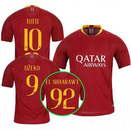 76fa6d30c 18 19 Roma soccer jersey NEW HOME RED TOTTI DZEKO DE ROSSI 2018 2019 TOP  Quality ROME adult NAINGGOLAN Football shirt