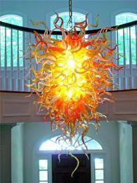 Discount beautiful crystal chandelier lighting - Beautiful Pendant Chandelier Light Fixture Italy Colorful Glass Art Hanging Lamp 100% Handmade Crystal Light