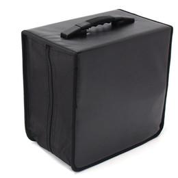 DvD cases storage online shopping - Handheld DVD Wallet Storage Bag Case Album Organizer Media Products Black PU Leather Discs Storage Box Accessories