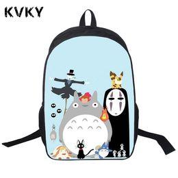 59c6539e6780 Anime My Neighbor Totoro Pringting Backpack For Teenagers Boys Girls Cute  Totoro School Bags Student Backpacks
