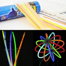 Multi colored bracelets online shopping - Glow Stick Multi Color Bracelet Necklaces Neon Party Light Stick Wand Novelty Toy Vocal Concert Sticks