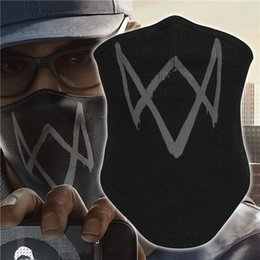 masked costumes for women Canada - Watch Dogs Aiden Pearce Neck Gaiter Tube Warmer Half Face Mask Scarf Bandana Headband Hats Costume Bicycle Black for Men Women