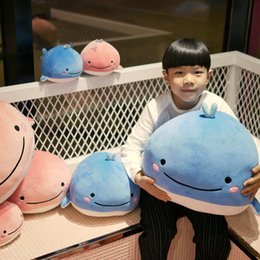 blue whale toy 2019 - 25 45cm Cute Down cotton whale plush toy super soft dolphin pillow Stuffed toys Aquatic creatures birthday gift kids pil