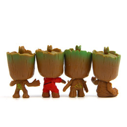Black toys action figures wholesale online shopping - PVC Car Decoration Doll Action Figures Toys Of The Avengers3 Infinity War Thanos Black Panther Groot Creative Kids Gift rz Y