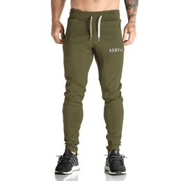 muscle print pants Australia - NEW 2018 Spring Autumn Casual Hip Hop Harem Pants Elastic Waist Drawstring Letter Printed Muscle Fitness Trousers Men