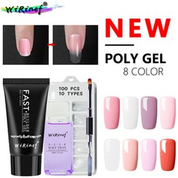 Nails buildiNg online shopping - WiRinef New ml Acrylic Poly Gel Camouflage Nail Art UV Nail Gel Polish Quick Building Glue Varnish Hot Sale Set