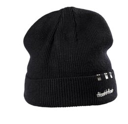 df5a80f7502 Street embroidered letter woollen hat for men and women and fleece knitted  hat winter ear protection thickened cap