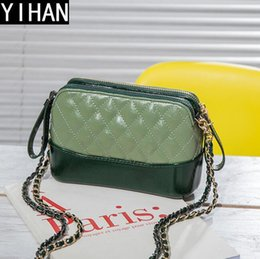 Phone Chain Color NZ - Factory independent brand handbags hit color small incense wind bag fashion leather chain bag cute Lingge leather Messenger shoulder bag