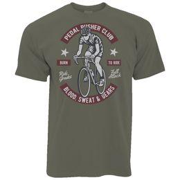 Cycling Cyclist Canada - Cycling Mens T-Shirt Pedal Pushers Club Biker Cyclist Retro Distressed