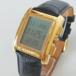 Digital Watches Muslim Qibla Watch With Azan Time And Hijri Alfajr Watch 6260 Azan Watch With Prayer Alarm Tonneau Watch For Muslim