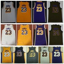Wholesale 2019 New Mens New LeBron James jersey Stitched 23  LeBron James  Basketball jerseys White Yellow Black LBJ shirt Free Shipping 4dfa078bd
