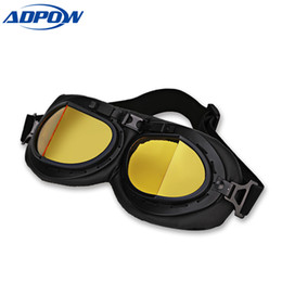 China Retro Motorbike Motocross Helmet Pilot Goggles Jet Aviator Vintage Wwii Pilot Goggles Motorcycle Scooter Glasses UV For Helmet supplier motorcycle scooter jet helmet suppliers