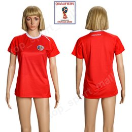 8bc217294 2018 World Cup Soccer Costa Rica Women Jersey 19 WASTON 10 BRYAN CAMPBELL  BORGES URENA BOLANDS VENEGAS WALLACE Woman Football Shirt Red Home