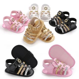 Wholesale cute Infant Baby Girls Summer Crib Walking Sandals Infant New Soft Shoes Months hot sale