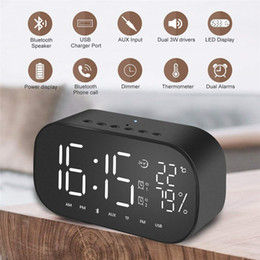 Home Decor Back To Search Resultshome & Garden F4 Intelligent Clock Wireless Bluetooth Led Digital Alarm Clock Nightlight Table Clock Speaker Subwoofer Stereo Mini Stereo High Quality