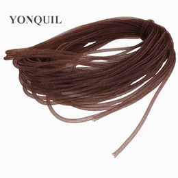 crinoline hair UK - Non-Metallic 4mm Tubular Horsehair Crinoline Tube Crin nylon Trimming for fascinator hair accessories 100yards lot 32 colors Free Shipping