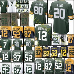 1bba2b86c Green Bay 20 Kevin King 80 Jimmy Graham Packer Jersey 12 Aaron Rodgers 87  Jordy Nelson 18 Randall Cobb 52 Clay Matthews Jerseys