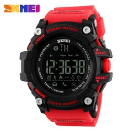 Discount sports digital cameras - Red Digital Watches for Women Bluetooth Smart Watch Health Sport Clock Hours Men Women Smart watch For Android IOS With