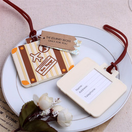 Luggage tags gifts online shopping - New Pattern Travel Luggage Tag Plastic Towage Card Gift Man And Women Portable Boarding Pass Hot Sale yk Ww